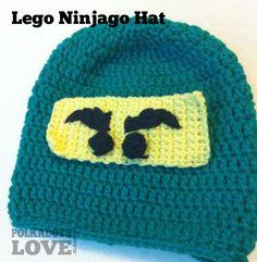 Polka Dots Love  Lego Ninjago Hat Crochet Lego ec443bdcf89f