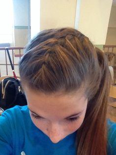 Softball hair
