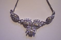 Necklace  Vintage Unsigned Silver Tone by colorsofthesouthwest, $29.99