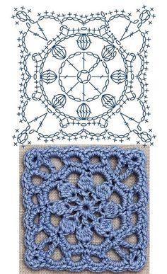 Special Granny square - triple crochet granny square - different granny square -. Special Granny square – triple crochet granny square – different granny square – Tamil – DI Crochet Motifs, Granny Square Crochet Pattern, Crochet Diagram, Crochet Chart, Crochet Squares, Love Crochet, Crochet Flowers, Crochet Stitches, Crochet Patterns