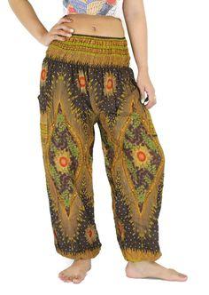 Aladin pants Hippie pants Unisex Peacock pants/ Harem by NaLuck
