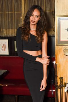 12 September Joan Smalls headed to a dinner hosted by Frame at the Waverly Inn.