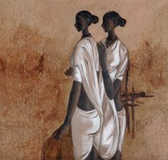 B. Prabha (Indian:1933 - 2001),Untitled, 1962. Oil on canvas, 91.4 x 96.2 cm.