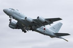 Japan's Kawasaki P-1 maritime patrol aircraft has made its global debut at the Royal International Air Tattoo at RAF Fairford in the U.K. Afterwards, the two aircraft will deploy to Djibouti for testing in hot conditions. The U.K. is expected to re-establish a requirement for a maritime patrol aircraft later this year.   Photo:  AWST/Tony Osborne