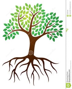 Tree with Roots Graphic | Tree Roots Logo