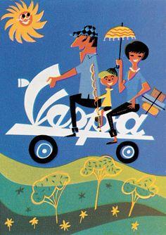 Vespa advertising illustration (1960)