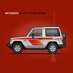 1st gen. Mitsubishi Pajero 3-door #turbodiesel (1982-1991) | #monkeycrisisonmars #mitsubishi #pajero #offroad #4wd #carArt #jdm #japanese #oldschool #retro #car #cars #suv