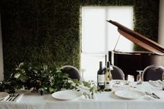 Greenery Table centre at Anam Cara Otaki - New Zealand Wedding