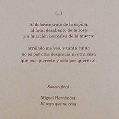 Soneto final. El rayo que no cesa. Miguel Hernández. #75añosdesumuerte Editorial @espasaespoesia #espasaclásicos #obracompleta ❤ 📚 . . . #miguelhernández #espasapoesía #niundíasinpoesía #literatura #literature #poesía #libros #megustaleer #quéleer #sonetofinal #elrayoquenocesa #quotes #citasliterarias #bookstagram #book #dimeunlibro #bookphotography #igbooks #books #bestseller #lectura #biblioteca