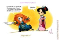 Pocket Princess Merida meets Captain Hook :)