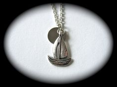 sailing under the moonlight necklace $22