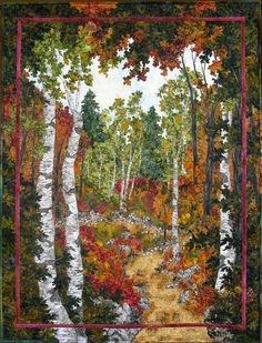 Art Quilts Landscapes | The Birches by Sue Gilgen | Quilts: #2 Landscape & Art Quilts