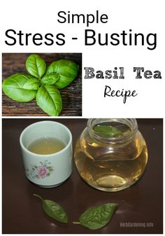 Einfache Stress Busting Basil Tea Rezept - Using Herbs For Health The Simple Life, Herbal Remedies, Home Remedies, Natural Remedies, Health Remedies, Basil Recipes, Tea Recipes, Cocktail Recipes, Drink Recipes