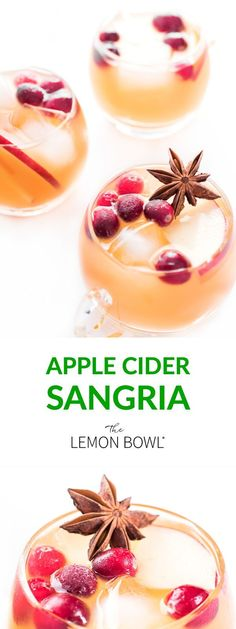 The ultimate fall punch for entertaining, this apple cider sangria recipe is made with spicy ginger beer, fresh apple cider and dry white wine. #AppleCider #Sangria #Drinks #Fall