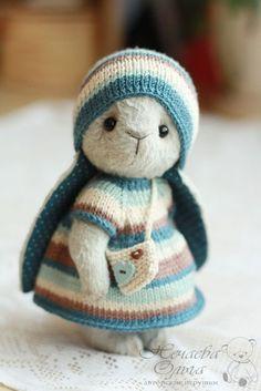 Teddy rabbit / Мишки Тедди ручной работы. Мишель (17 см). Ольга Нечаева. Интернет-магазин Ярмарка Мастеров. Коричневый, зайчонок, вискоза