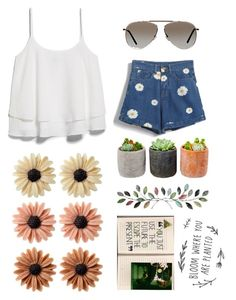 """""""Daisy"""" by socialcasualtyk ❤ liked on Polyvore featuring moda, MANGO, mae, Shop Succulents e Tom Ford"""