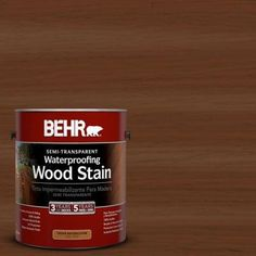 Visit The Home Depot to buy BEHR Bordeaux Semi-Transparent Waterproofing Wood Stain 307701 Exterior Wood Stain, Fence Stain, Exterior Paint, Stain Wood, Grey Stain, Behr, Semi Transparent Stain, Deck Colors, Low Maintenance Landscaping