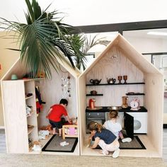 160 fun kids playroom ideas to inspire you - page 34 Toy Rooms, Kid Spaces, Play Houses, Kids Playing, Kids Bedroom, Baby Room, Toddler Bed, Room Decor, Nursery