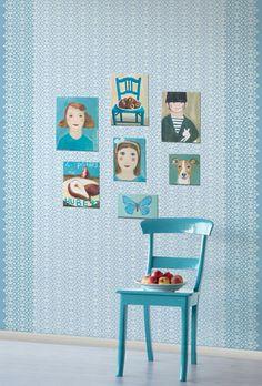 Sky Blue Perini Wallpaper