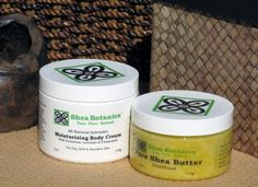 Moisturizing Body Cream 6oz + Shea Butter 4oz (Unscented), Shea Botanica