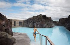 The Blue Lagoon is situated within the UNESCO Global Geopark and comprises a series of pools containing geothermal seawater rich in minerals like silica and sulphur that are reputed to be good for treating skin conditions.