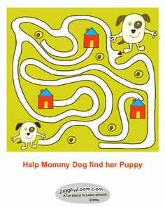 Puppy Maze for Preschoolers ... free printable ...