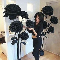 Absolutely love the way my amazing client set up the flowers I made for her beauty studio! Paper Flower Wall, Tissue Paper Flowers, Paper Flower Backdrop, Flower Wall Decor, Giant Paper Flowers, Large Flowers, Flower Crafts, Flower Art, Diy Arts And Crafts