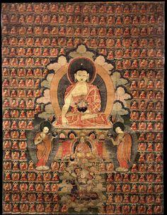 Buddha Shakyamuni ~ Tibetan Buddhist Thangka, Tibet