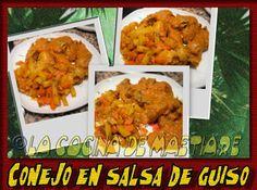 La cocina de Maetiare: Conejo en salsa de guiso