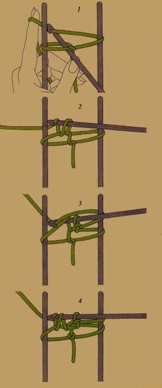 Die Gabelarbeit beim Häkeln, je nach Breite der Gabel lassen sich verschieden breite Bänder herstellen [] #<br/> # #Crochet #Beret,<br/> # #Hairpin #Lace,<br/> # #Loom,<br/> # #Lace,<br/> # #Tissue<br/>