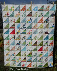 Frogs and Snails quilt front | by Sarah @ FairyFace Designs