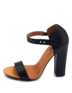 Thick Heel Single Sole Pump