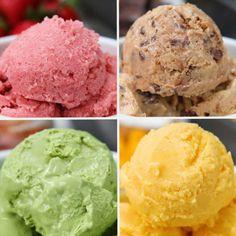 Iogurte Congelado 4 Maneiras Chill Out With These 4 Frozen Yogurt Recipes Frozen Yogurt Recipes, Frozen Yoghurt, Frozen Desserts, Healthy Desserts, Delicious Desserts, Dessert Recipes, Yummy Food, Healthy Recipes, Greek Yogurt