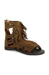 f90a17274c8a Jeffrey Campbell  Santana  Suede Fringe Gladiator Sandal (Women) Nordstrom  Shoes