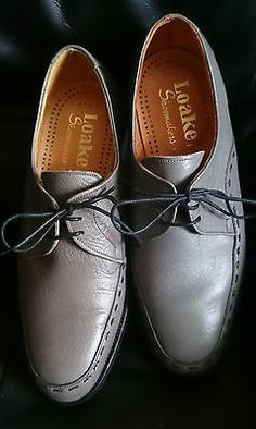 MENS LOAKE FORMBY SHOES GREY 7 - EE FITTING UK - VGC