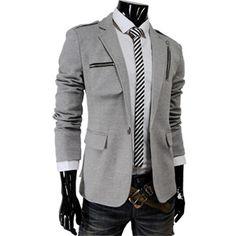 Slim Fit One Button Blazer Jacket