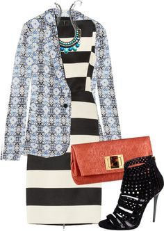 """""""mixing prints"""" by meneghini ❤ liked on Polyvore"""