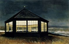 Andrew Wyeth 'Two if by Sea' 1995viaPlum leaves