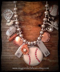 baseball jewelry on Etsy, $96.00