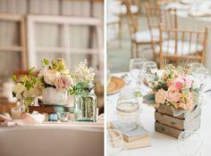 Andrea Murphy Photography via Style Me Pretty (left); onelove photography via Style Me Pretty (right) #vintage #wedding