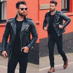 That all black biker style. Jacket by @bodaskins  #BodaSkins