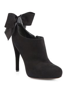 71534195947d70 Vera Wang Lavender Label - Jude Suede Bow Ankle Boots. I always love a bow