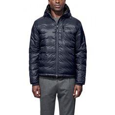 Canada Goose Lodge Hoody Mens Jacket in Blue Black Mens Winter Coat, Winter Jackets, Winter Coats, Puffy Jacket, Hooded Jacket, Childrens Ski Wear, Mens Ski Wear, Black Polo Shirt, Outdoor Wear