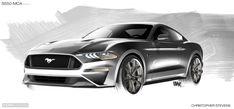 2018 Ford Mustang Design Sketch Render