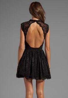 ALEXIS Vendela Short Lace Dress in Black - Alexis