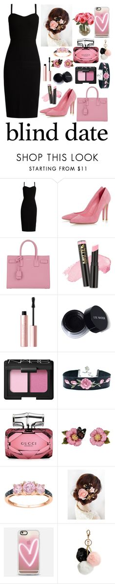 """""""Date Night #15"""" by xxmonnyxx on Polyvore featuring MaxMara, Yves Saint Laurent, Too Faced Cosmetics, NARS Cosmetics, Gucci, Les Néréides, Casetify and GUESS"""