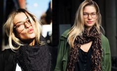 love the scarves and glasses!