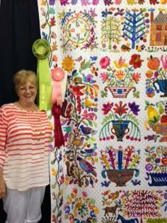 Ring & Roses by Janet Treen- the magnificent applique border sets ... : green country quilt guild - Adamdwight.com