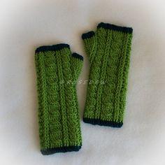 Crochet ALPACA WOOL BLEND Cables Galore Fingerless by R0SEDEW