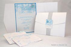 Snowflake Party Invitations | Winter Wonderland Invitations by SDezigns on Etsy